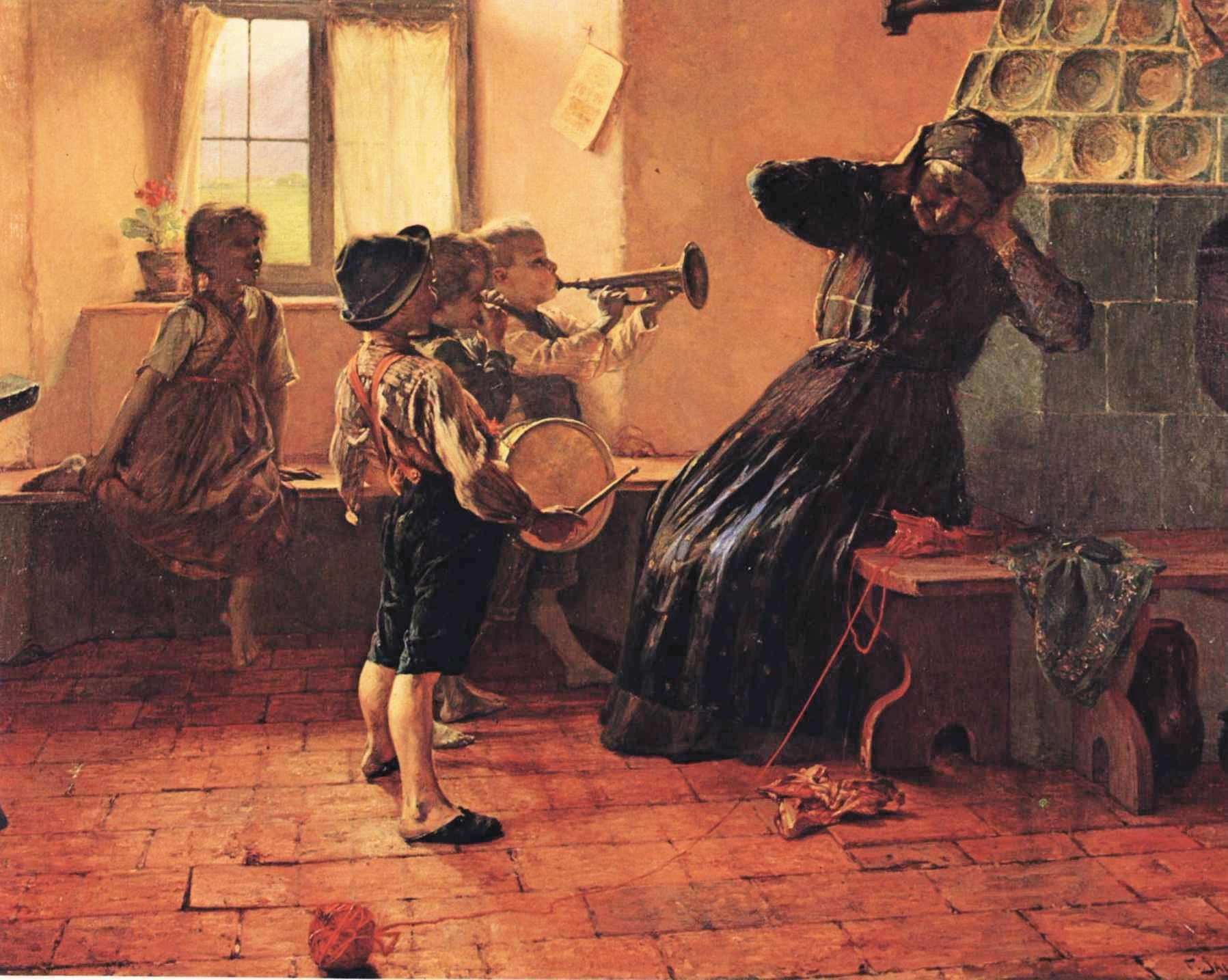 Γ. Ιακωβίδης, Παιδική Συναυλία (1894). Λάδι σε μουσαμά, 176 εκ. x 250 εκ. Εθνική Πινακοθήκη