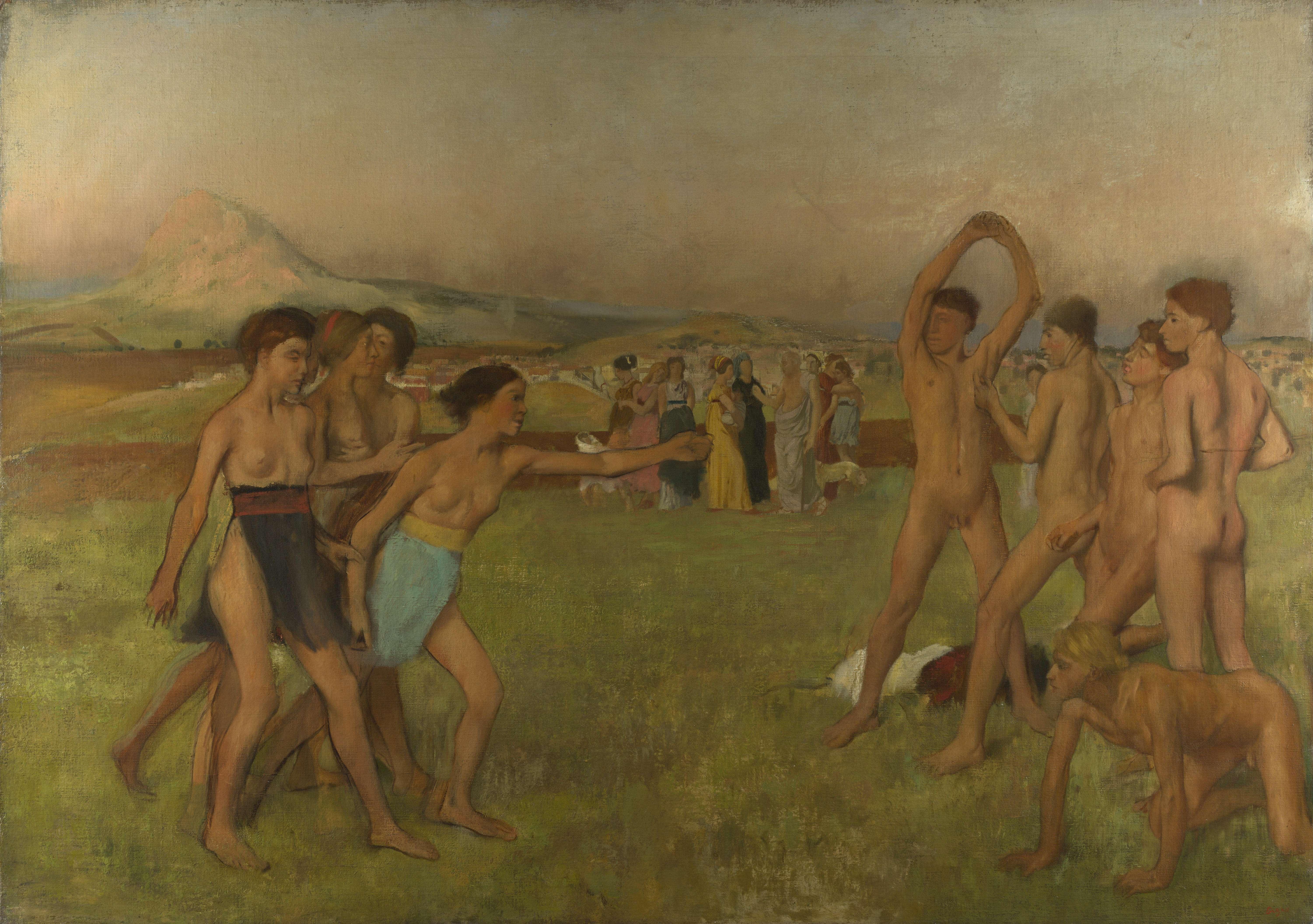 Νέοι στη αρχαία Σπάρτη. Young Spartans Exercising by Edgar Degas (1834-1917)