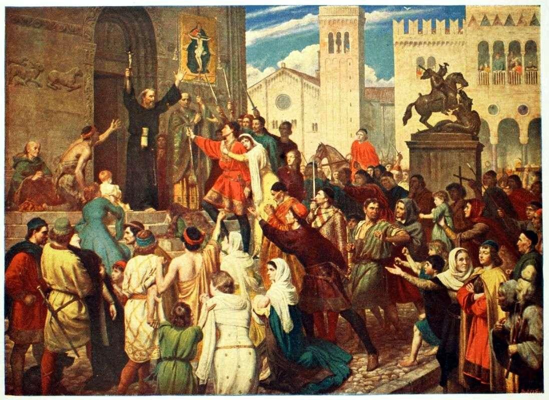 Το κάλεσμα της Πρώτης Σταυροφορίας (εδώ από τον Πέτρο τον Ερημίτη). Πίνακας του James Archer (πηγή)