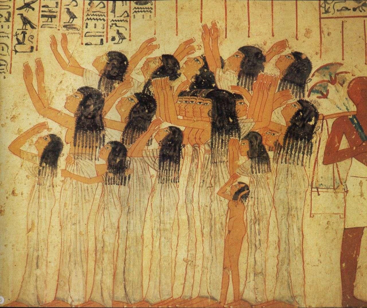 Αιγύπτιες μοιρολογίστρες στον Τάφο του Ραμσή Γ