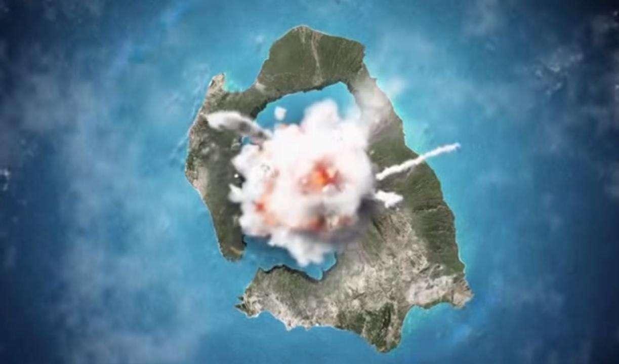 Η ιστορία του ηφαιστείου της Σαντορίνης σε βίντεο