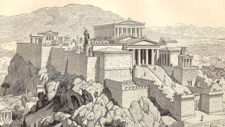 Η Ακρόπολη των Αθηνών του 5ου αιώνα π.Χ. σε γκραβούρα