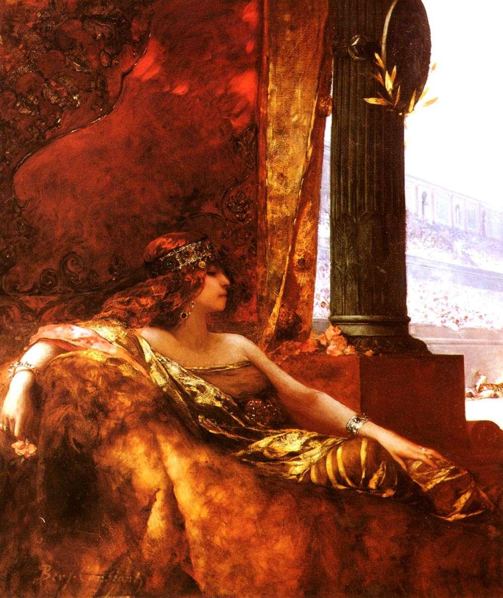 Η Θεοδώρα στον Ιππόδρομο. Ελαιογραφία από τον Jean-Joseph Benjamin-Constant, 190ος αιώνας