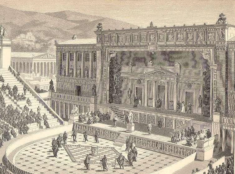 Το αρχαίο θέατρο Διονύσου, όπου δίδαξε ο Αισχύλος, στους πρόποδες της Ακρόπολης της Αθήνας.