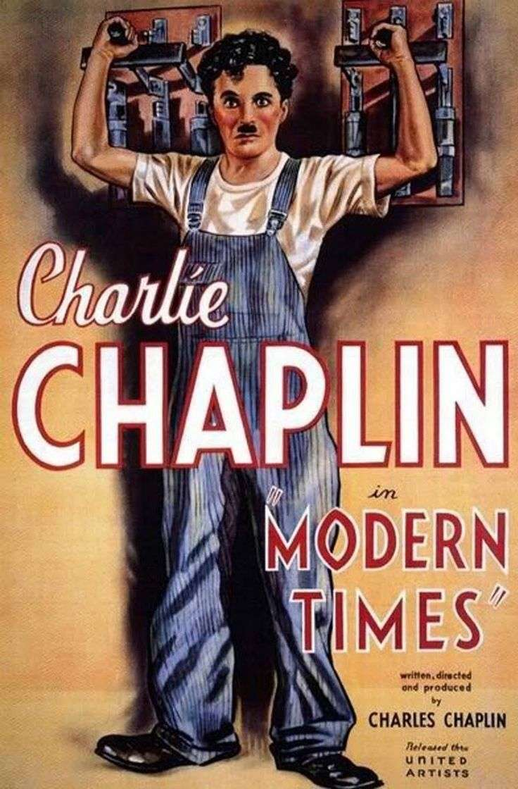 Original poster for Charlie Chaplin's 1936 film Modern Times
