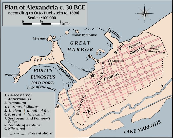 Αρχαία Αλεξάνδρεια το 30 π.Χ. Πόλη της Αιγύπτου των ελληνιστικών χρόνων
