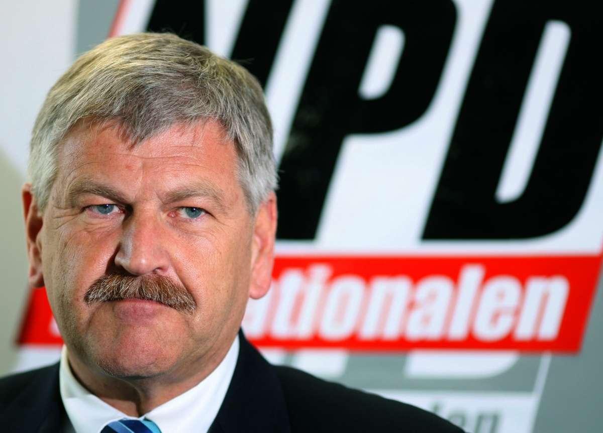 Ο πρόεδρος  του NPD την περίοδο 1996-2011 UdoVoigt