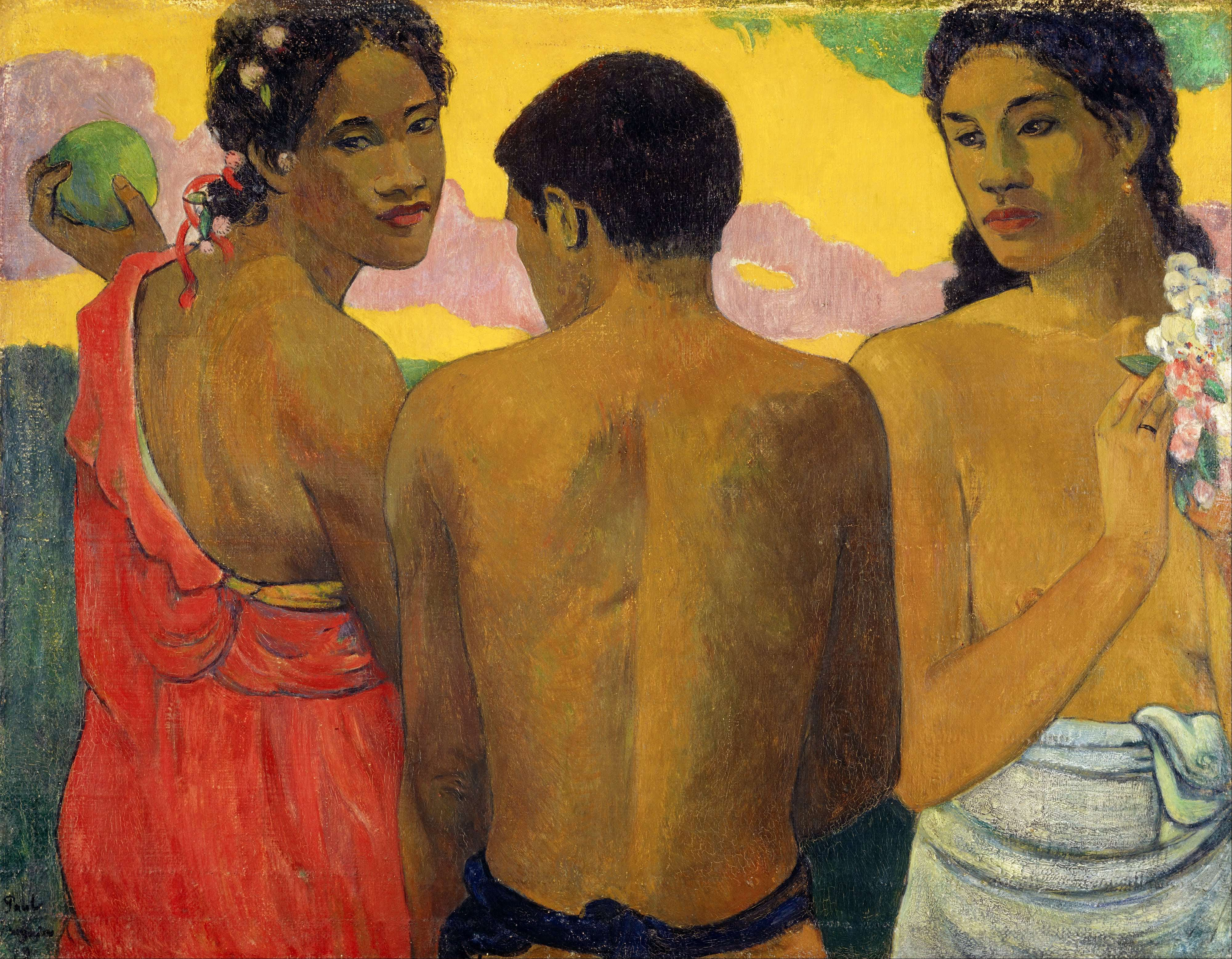 Paul Gaugin, Three Tahitians