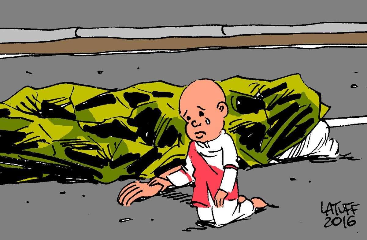Σκίτσο του Κάρλος Λατούφ για την πολύνεκρη τρομοκρατική επίθεση στη Νίκαια της Γαλλίας