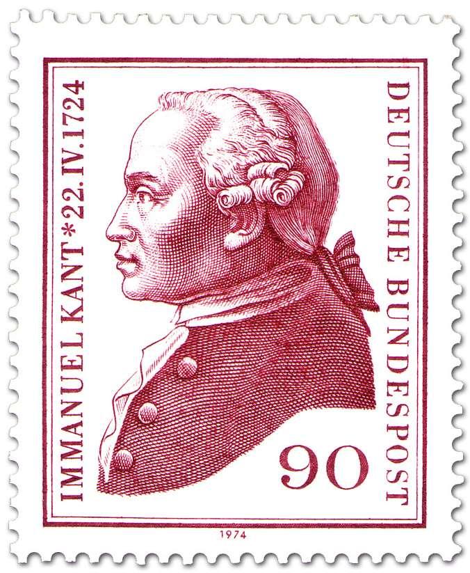 O Ιμμάνουελ Καντ (Immanuel Kant) σε γερμανικό γραμματόσημο