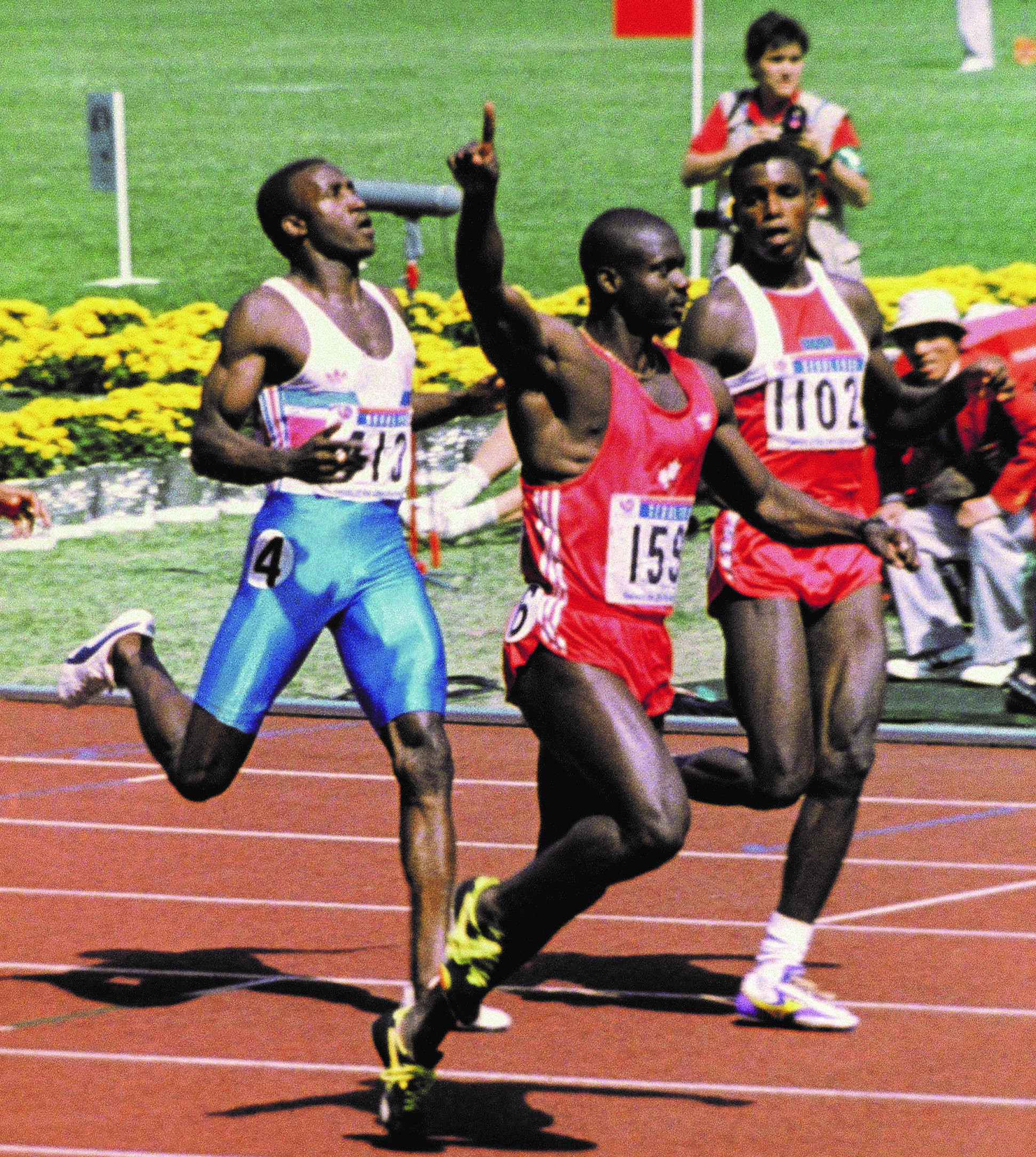 Ben Johnson and Carl Lewis