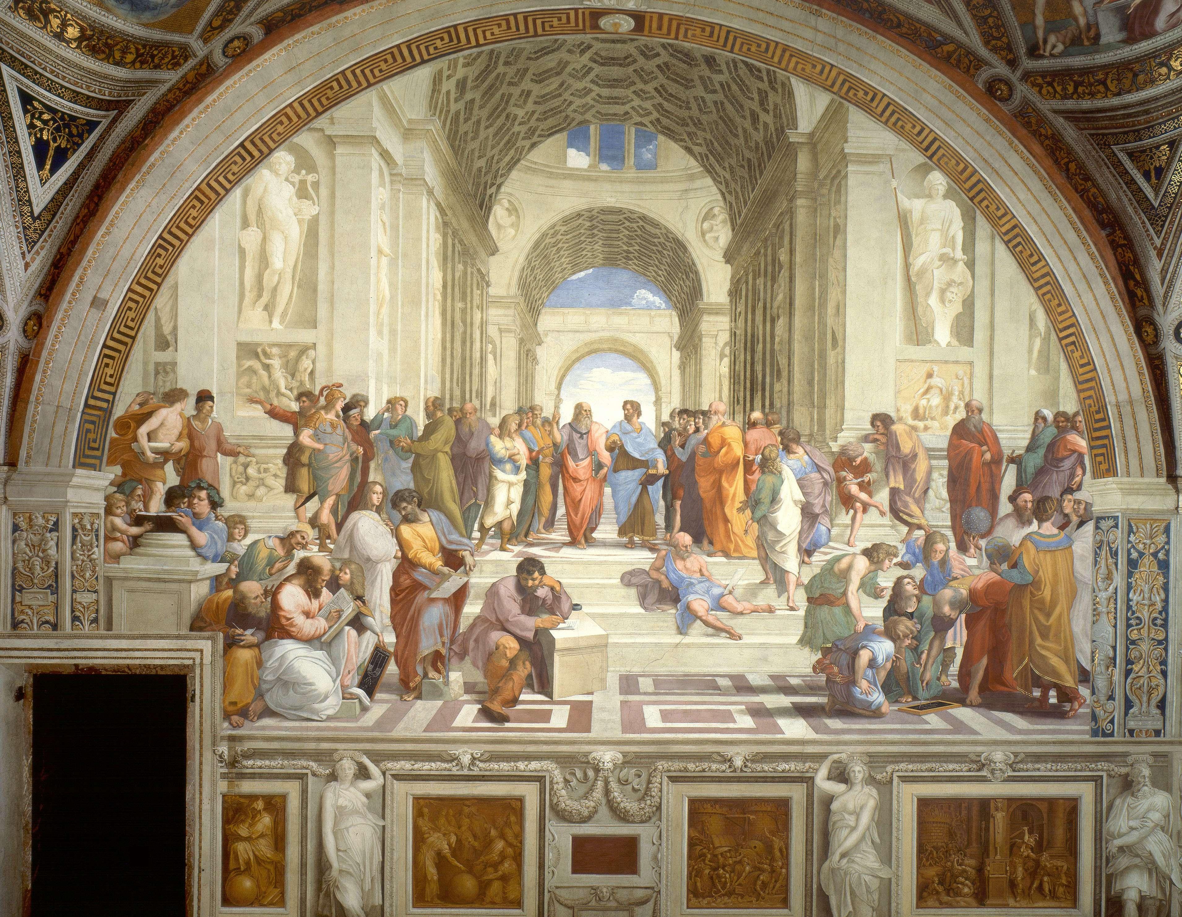Η Σχολή των Αθηνών, ή Scuola di Αtene στην ιταλική γλώσσα, είναι μια από τις διασημότερες νωπογραφίες του Ιταλού καλλιτέχνη της Αναγεννησιακής τέχνης, Ραφαήλ.