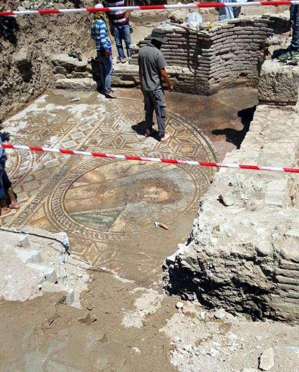 μωσαϊκό του θεού Ποσειδώνα στα Άδανα της σημερινής Τουρκίας