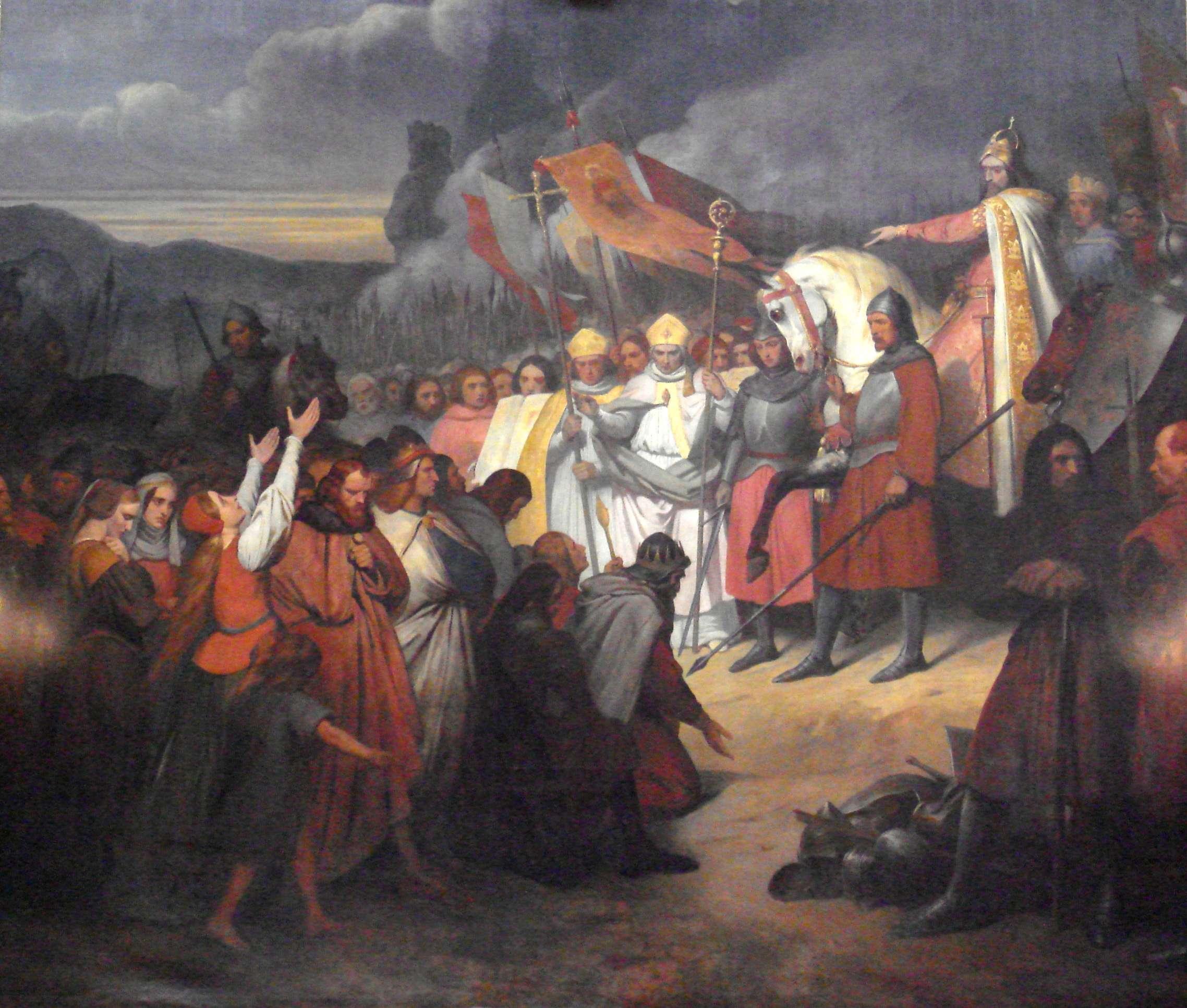 Ο Καρλομάγνος (742–814) αποδεχόμενος την υποταγή του Βίντουκιντ στο Πάτερμπορν το 785, του Αρι Σέφερ (1795–1858). Βερσαλλίες.