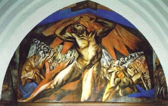 Prometheus (1927), by José Clemente Orozco, at Pomona College