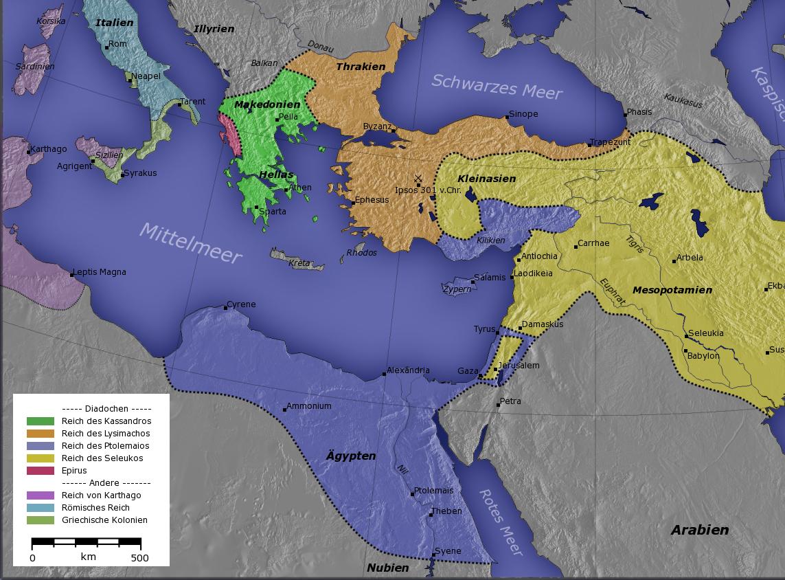 Η Δυναστεία των Πτολεμαίων ήταν μια βασιλική οικογένεια της Ελληνιστικής Περιόδου, που κυβέρνησε την Αίγυπτο για περίπου τρεις αιώνες, από το 305 μέχρι το 30 π.Χ.