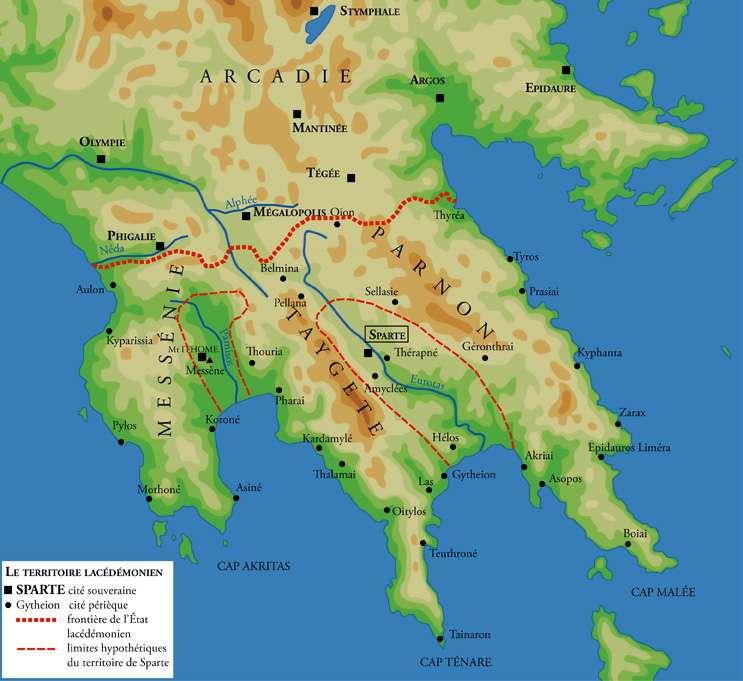 Η επικράτεια της Σπάρτης κατά την Κλασική Αρχαιότητα