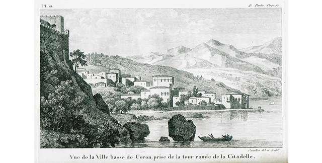 Άποψη της Κορώνης από το Ενετικό κάστρο