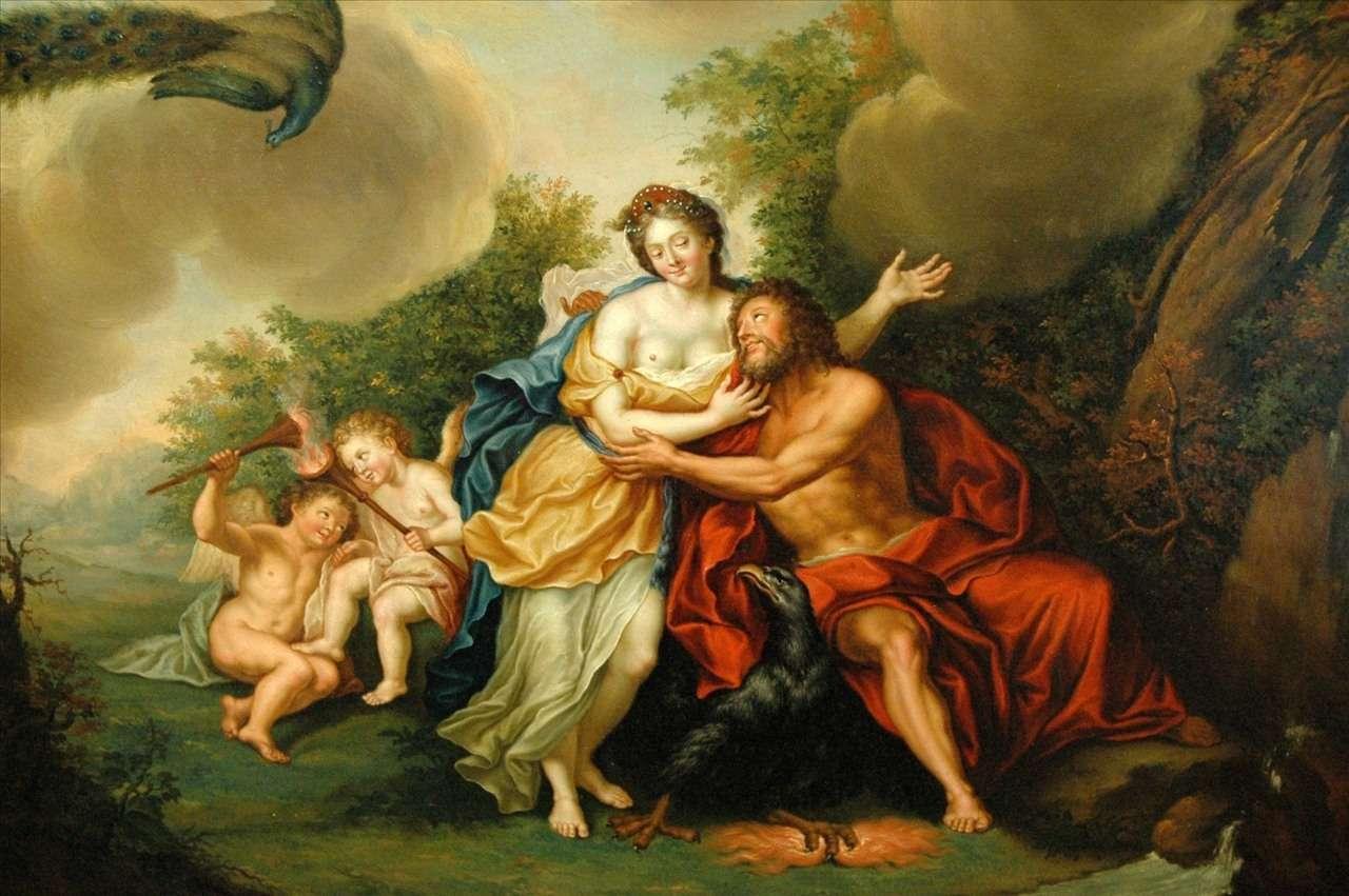 Δίας και Ήρα. Franz Christoph Janneck, Jupiter and Juno, 18th century