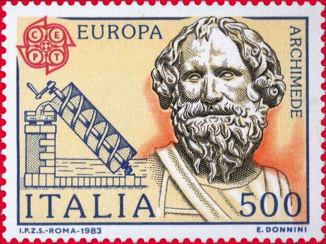 Ο Αρχιμήδης σε ιταλικό γραμματόσημο, 1983