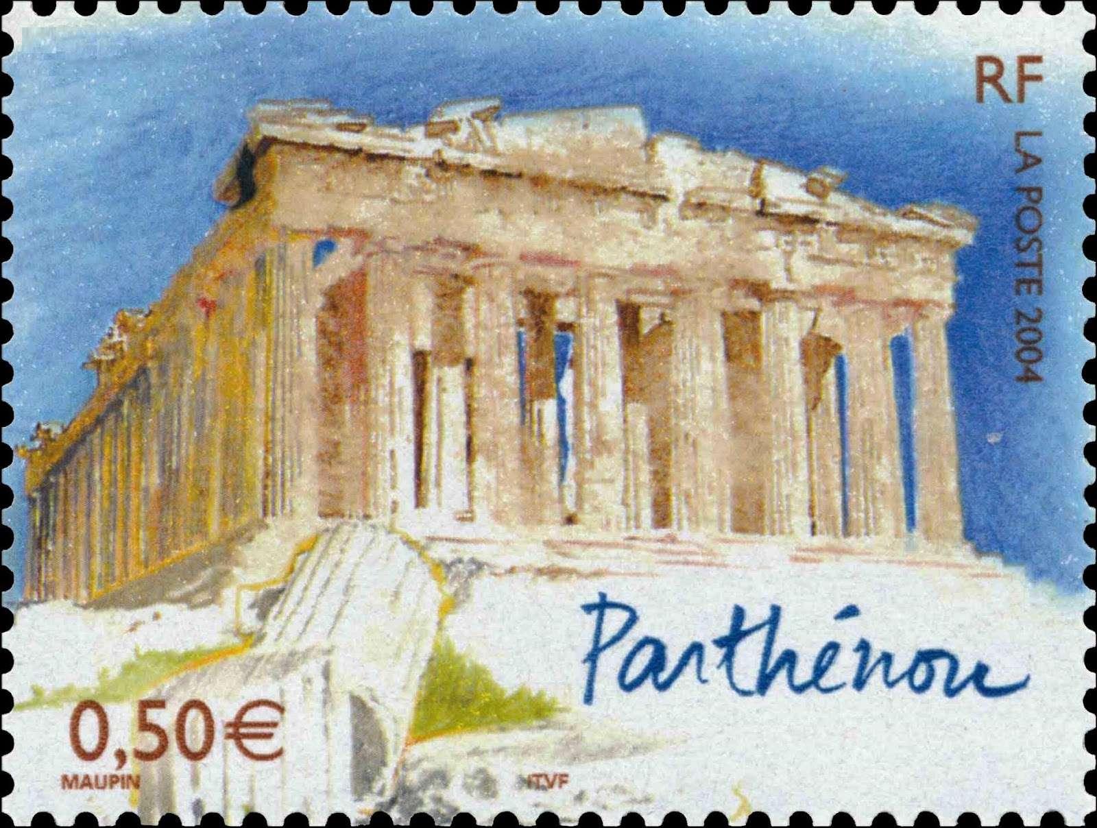 Ο Παρθενώνας, γαλλικό γραμματόσημο. 2004 Parthenon FRANCE