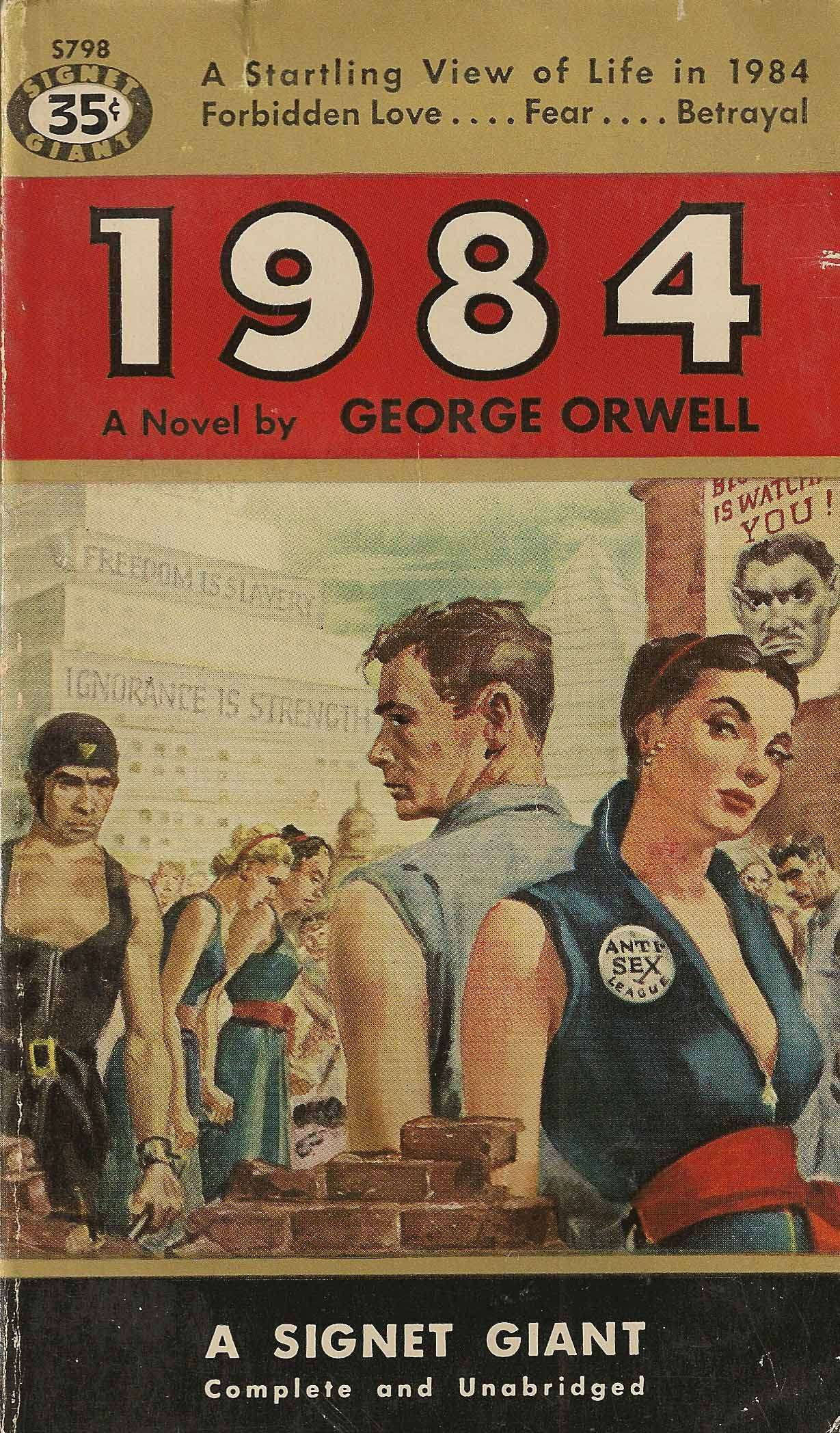 1984 | George Orwell | pulp cover vintage art