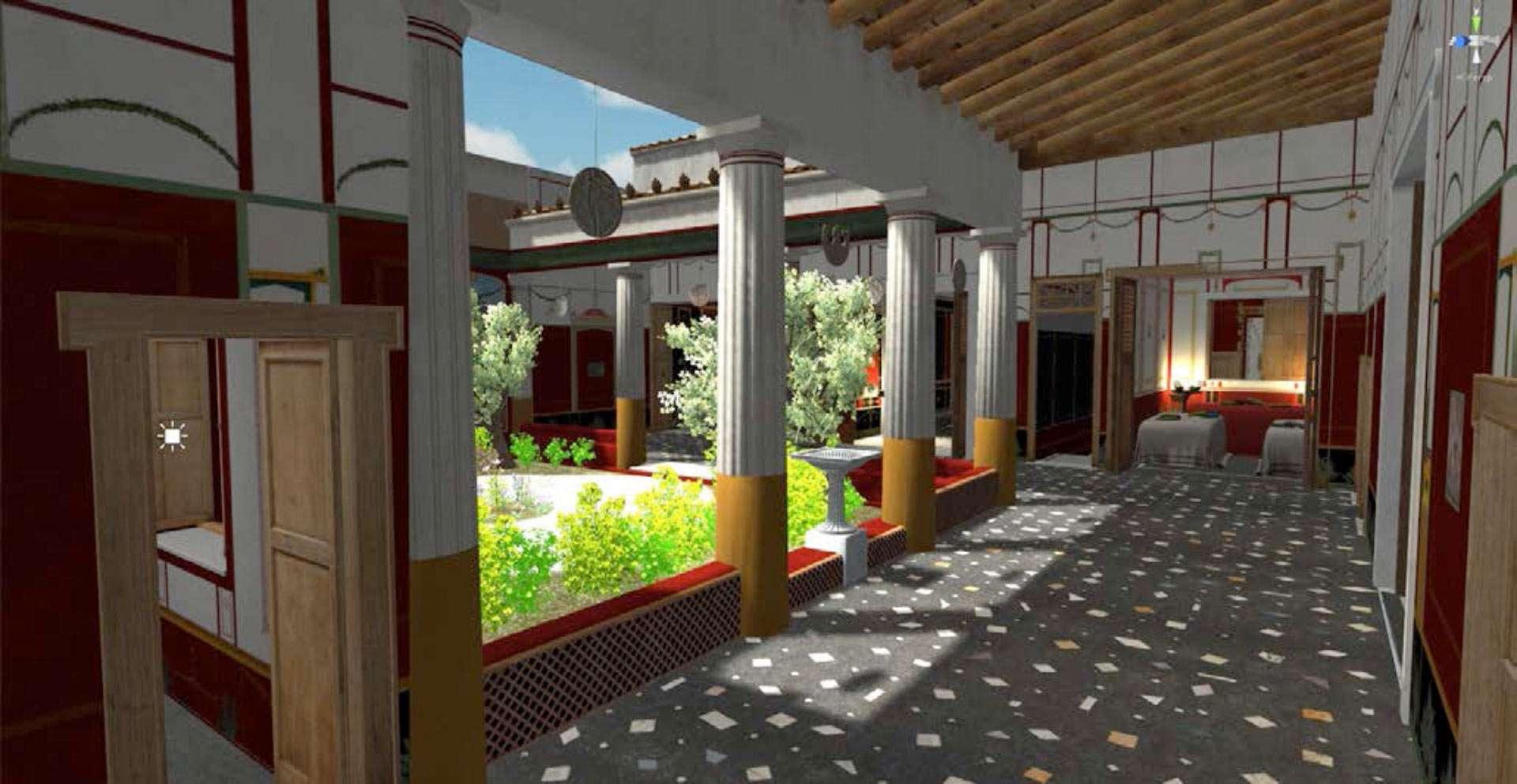 Ψηφιακή αναπαράσταση βίλας της Πομπηίας
