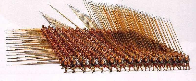 μακεδονική φάλαγγα - Κατά την Ελληνιστική περίοδο πολέμησαν μεγάλες φάλαγγες σαρισοφόρων