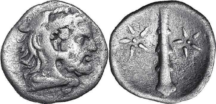 νόμισμα της αρχαίας Σπάρτης, 265 - 309 π.Χ.