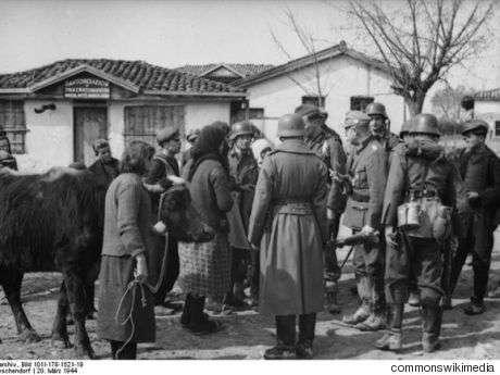 Θεσπρωτία, την περίοδο της κατοχής. Διακρίνονται Γερμανοί στρατιώτες
