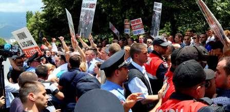 διαδήλωση στην Αλβανία