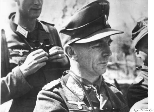 Ο επικεφαλής της 1ης Ορεινής Μεραρχίας «Εντελβάις», ο στρατηγός Walter Von Stettner