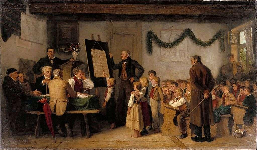 Η σχολική εξέταση. Άλμπερτ (ή Άλμπρεχτ) Σάμουελ Άνκερ (1 Απριλίου 1831 – 16 Ιουλίου 1910). The school exam