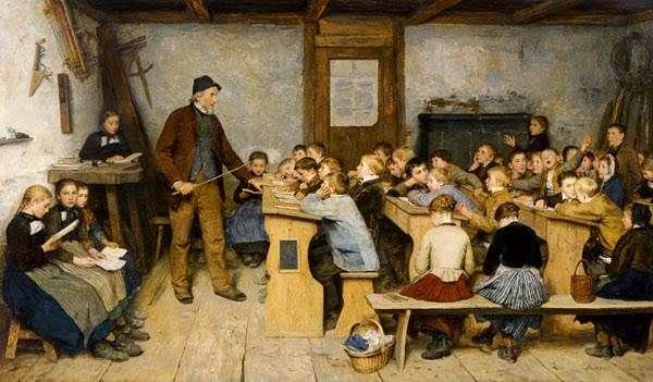 Παιδιά στο σχολείο. I bambini e la scuola di Albert Samuel Anker