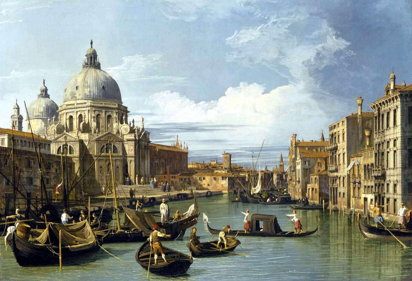 Καναλέττο: Entrance to the Grand Canal, Venice, c. 1730