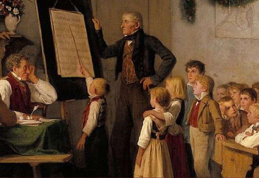 Η σχολική εξέταση (λεπτομέρεια). Άλμπερτ (ή Άλμπρεχτ) Σάμουελ Άνκερ (1 Απριλίου 1831 – 16 Ιουλίου 1910). The school exam.