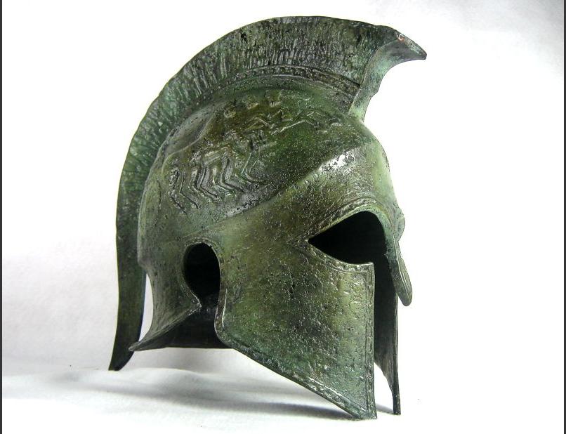 Κράνος αρχαίου Σπαρτιάτη οπλίτη, 440 π.Χ.