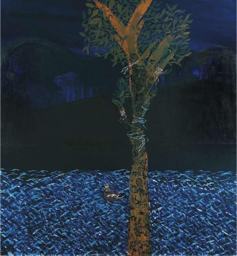 Τάσος Μαντζαβίνος, Δέντρο με τάματα