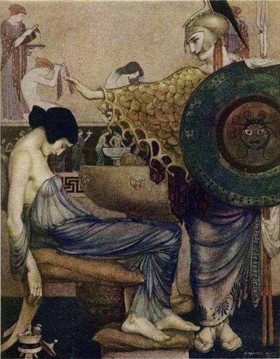 """Οδύσσεια του Ομήρου. """"The Odyssey of Homer"""" by William Russell Flint"""