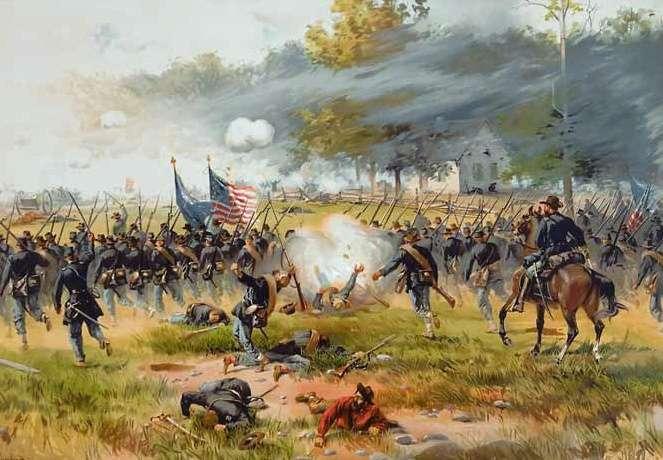 Η Μάχη της Antietam. Battle_of_Antietam_by_Thulstrup