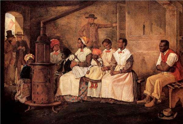 Σκλάβοι προς πώληση. laves Waiting for Sale: Richmond, Virginia. Painted upon the sketch of 1853