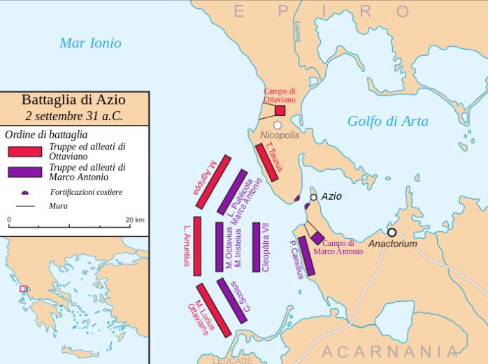 Η Ναυμαχία του Ακτίου (2 Σεπτεμβρίου 31 π.Χ.)