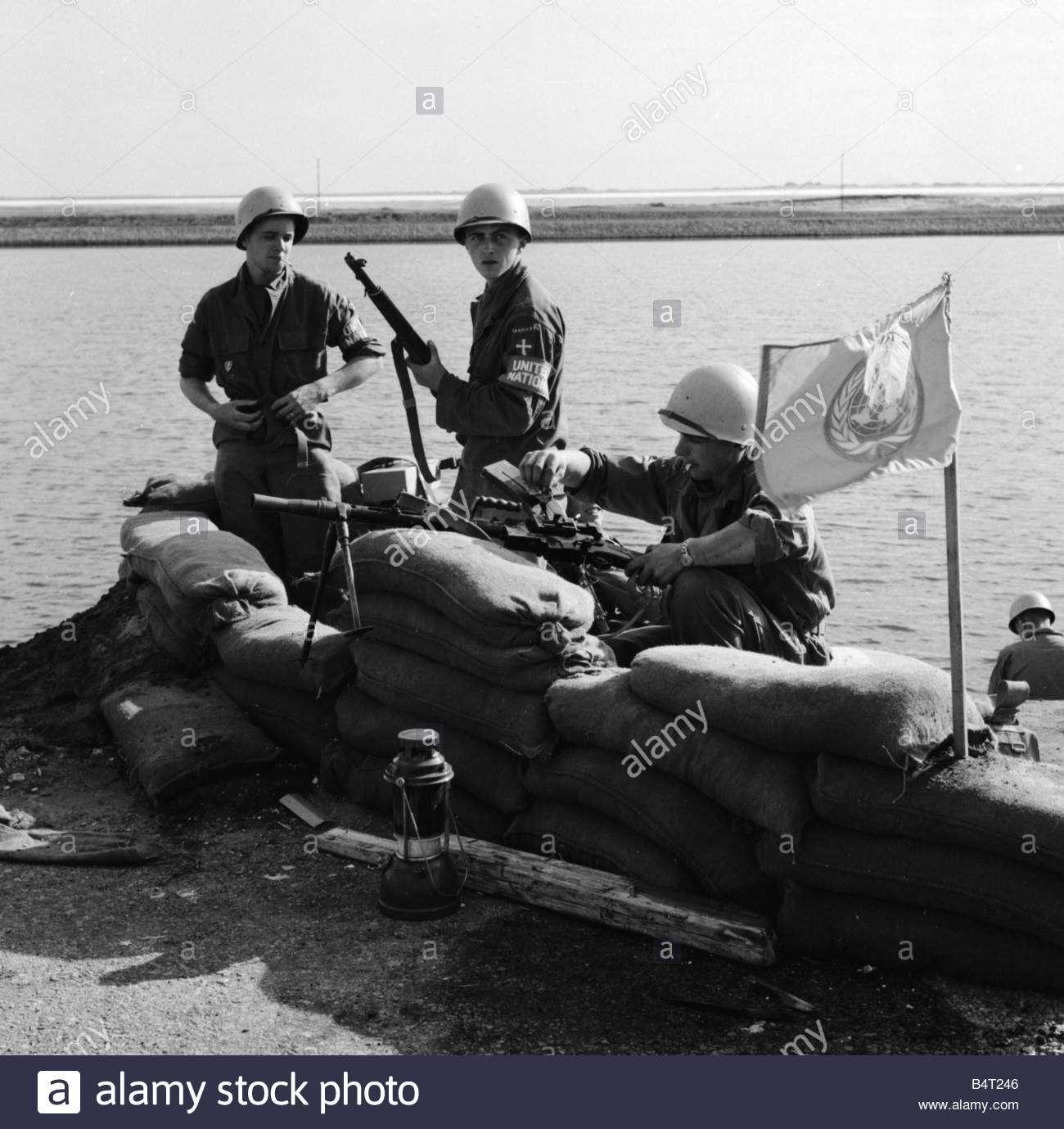 Δανέζικα στρατεύματα της δύναμης του ΟΗΕ οχυρώνονται ανάμεσα στις αιγυπτιακές και τις βρετανικές δυνάμεις