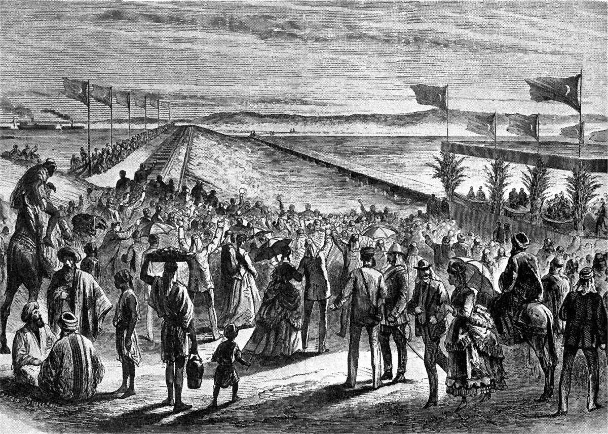 1869, τα εγκαίνια της Διώρυγας του Σουέζ