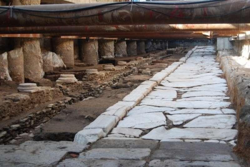 Ανασκαφές στο μετρό. Οδός Ελ. Βενιζέλου στη Θεσσαλονίκη