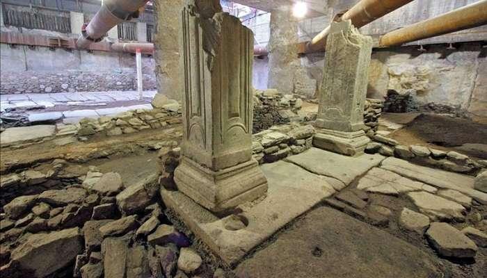 Ανασκαφές στο μετρό. Οδός Ελ. Βενιζέλου στη Θεσσαλονίκη. Το τετράπυλο