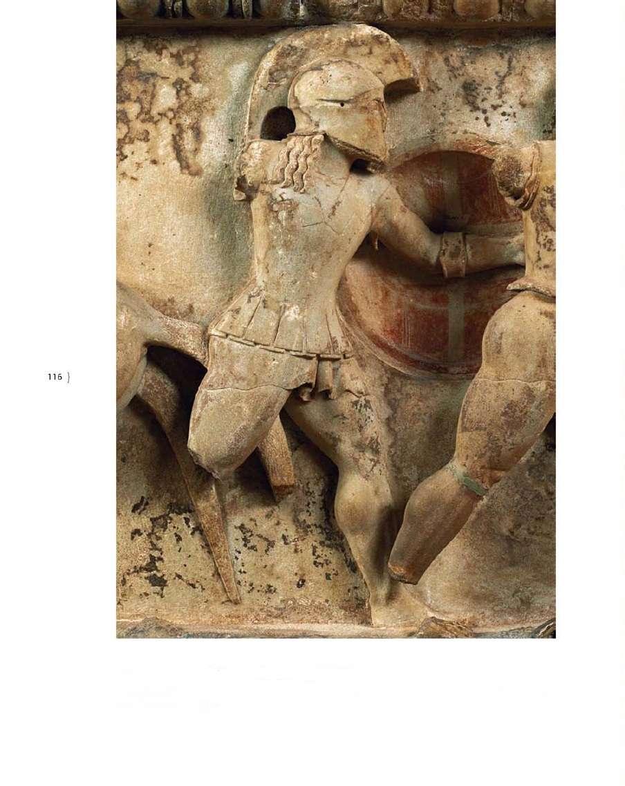 Η ανατολική ζωφόρος του θησαυρού των Σιφνίων. Αρχαιολογικό μουσείο Δελφών