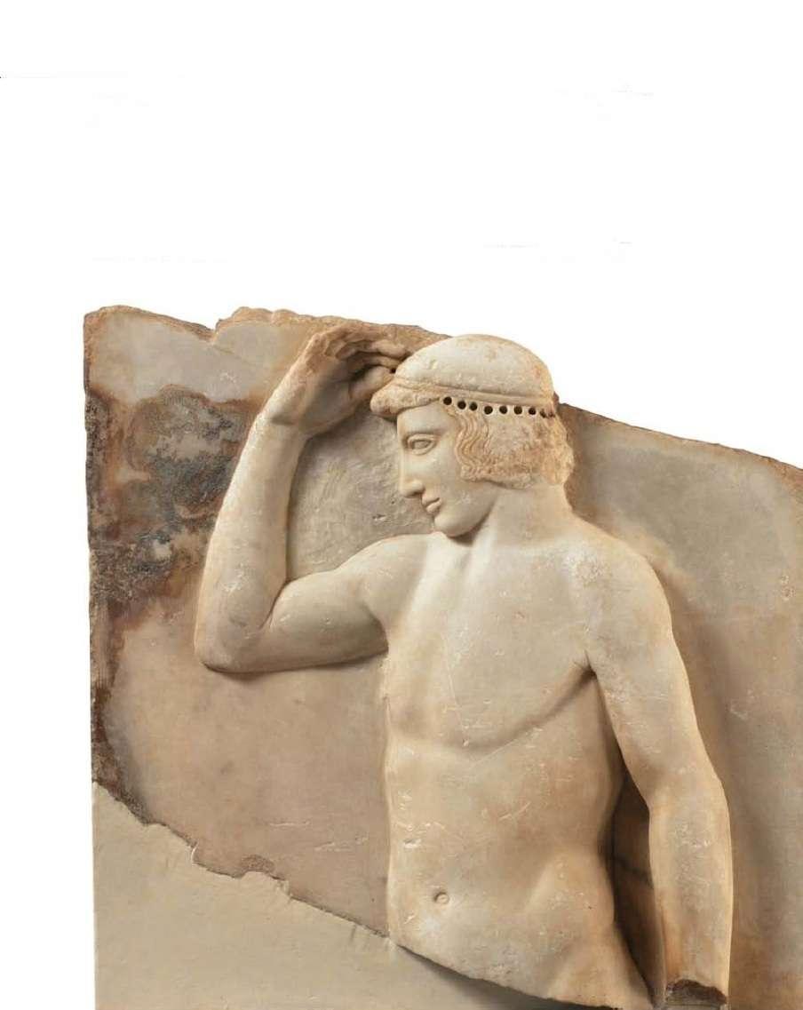 Αναθηματικό ανάγλυφο που βρέθηκε στο Σούνιο. 460 π. Χ. Αρχαιολογικό Μουσείο Αθηνών