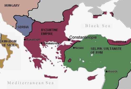 H Βυζαντινή Aυτοκρατορία και το Σουλτανάτο του Ρουμ πριν την Α' Σταυροφορία (1096)