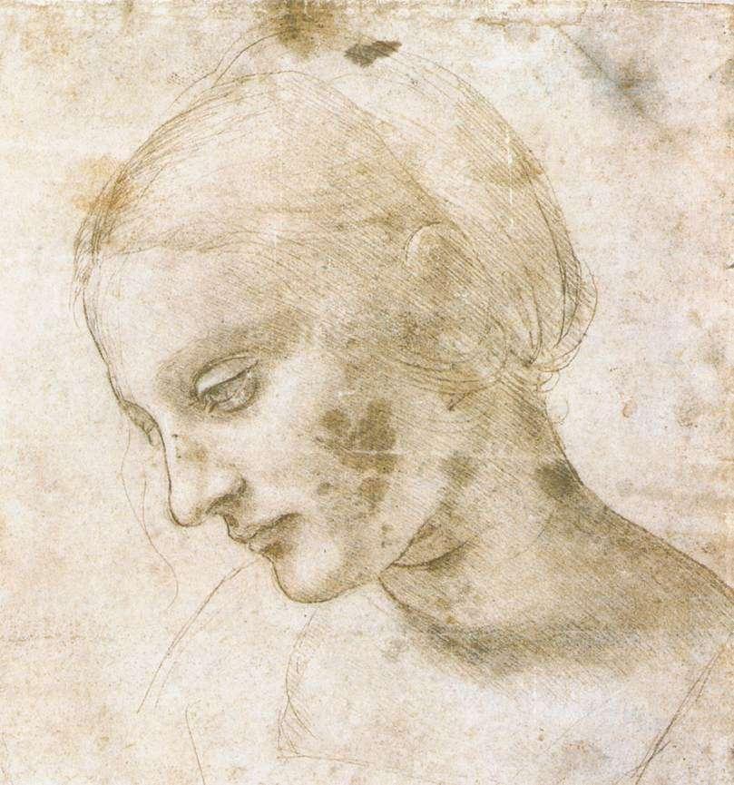 Η Παναγία. Leonardo da Vinci, a study of the Head of Madonna, c. 1484 AD.